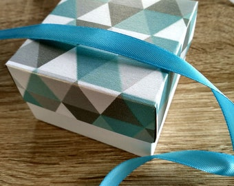 Wedding Gift Boxes , 10 celadon color boxes, pearl boxes, boxes with print, boxes, Elegant box,
