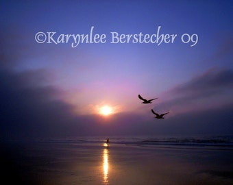 Shore Sunrise, Fine Art Matted Photography