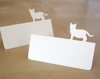 Kitty Cat Tent Style Place Cards Set of 24