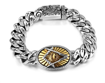 RARE stunning Bracelet in925th Franc silver Macon and eye