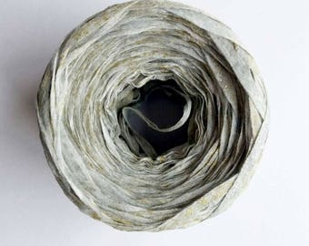 Silver paper yarn · ribbon yarn ·rayon yarn · hand painted yarn · shiny yarn