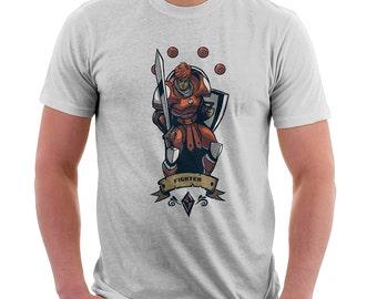 Fighter Final Fantasy Shirt  - Final Fantasy Shirt | T-shirt for Women Men | Video Games | Geek Shirt | Pop Culture | Pop Art | Nerd Shirt