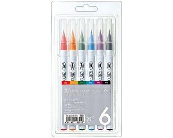 Zig Clean Color Real Brush Pen Sets - Regular or Wink of Stella Fine Glitter