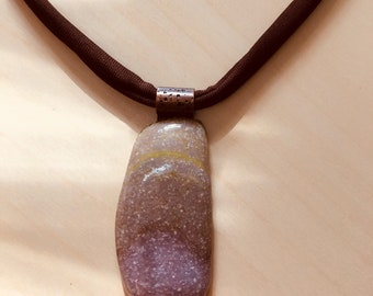 Fused Glass Pendant, Art Glass Pendant, Earth Toned Necklace