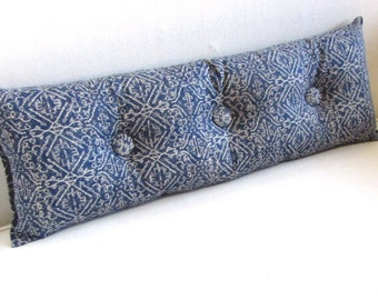 PRIYA BLUE 11x36 Bolster/lumbar pillow available in many of our fabrics