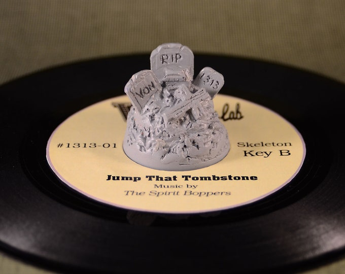 Creepy Cemetery 45  RPM Record adapter