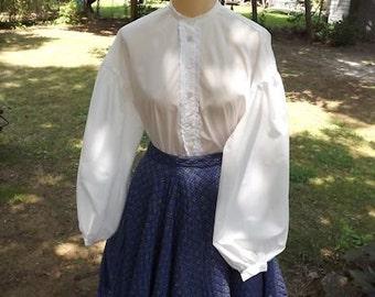 Ladies Civil War Garibaldi Blouse Sizes 6 to 22 Muslin Blouse