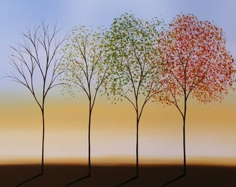 Seasons art print ... Changing Seasons -- 8 x 10 Glossy Print