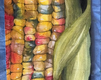 Indian Corn          5 x 7      Original Watercolor