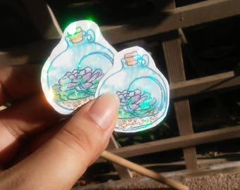 Plant Holographic Stickers