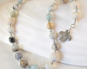 Beach Sand Anglican Rosary:  Anglican prayer beads, Meditation beads, Easter rosary, Episcopal confirmation gift, Christian prayer beads