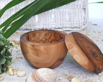 shaving mug of olive wood