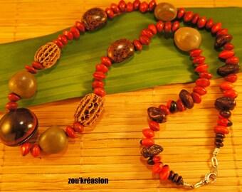 Amazonian seed necklace
