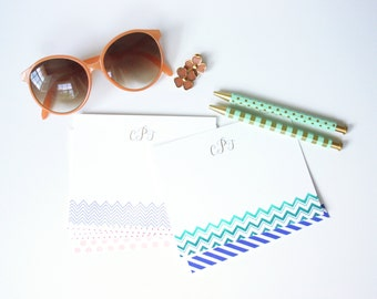 Personalized Hand Stamped Notecards