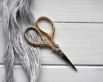 Vintage Embroidery Scissors - Golden
