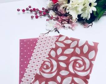 Roses and Hearts Vellum Set