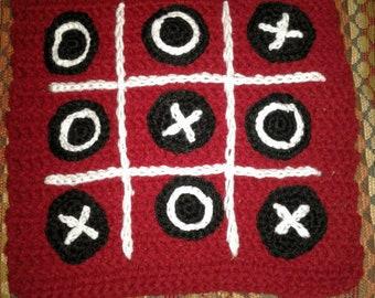 Crochet tic tac toe mat