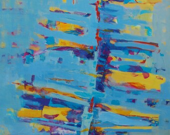 Abstract Art Abstract Painting Abstract POSTER Abstract Print Abstract Wall Art Oil Painting Abstract Canvas Art Large Abstract Art Blue