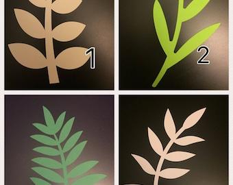 Paper Flower Leaves, Stem Leaves, Vines, Paper Leaves, Leaf, Set of 12