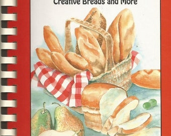 """Vintage 1992 Gingerbread Press """"When The Knead Rises"""" Bread Cookbook"""