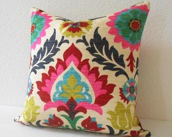 Decorative pillow cover, Multicolor floral pillow