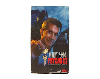 Psycho III VHS Horror 80s Anthony Perkins Norman Bates Motel