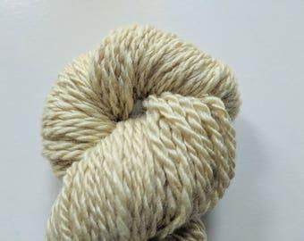 """Naturally Dyed Handspun Wool Yarn: """"Sage Green"""""""