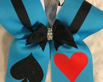 Alice In Wonderland Inspired Cheer Bow