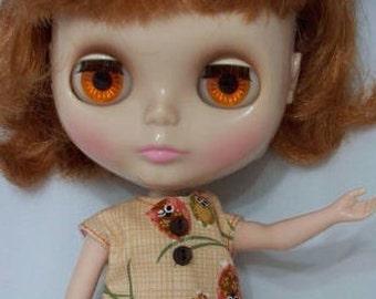 Blythe Winking Owls dress & Hair clip
