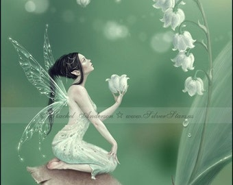 Lily of the Valley Flower Fairy Art Print