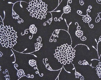 Blackwork Quilt Fabric, by Carol Roeda, for Four Corner Designs, A.E. Nathan Co., 100 Percent Cotton, Fabric by the Yard, Quilting Fabric