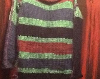 Multi color wool sweater