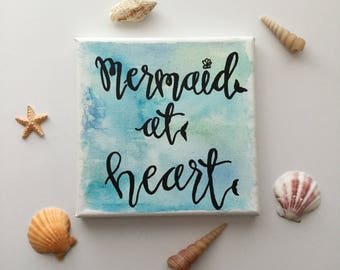 Mermaid at Heart canvas