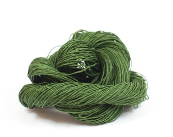 Paper Yarn - Paper Twine: Dark Green - Knit, Crochet, Textile Arts, DIY Supply, Gift Wrap, Weave - Washable and Eco-Friendly