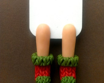 Bookmark, warm socks, bookmark,  Knitted socks, bookworm