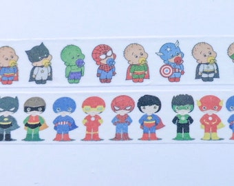 "Superhero Babies or Superhero Kids Washi Tape 24"" Sample"