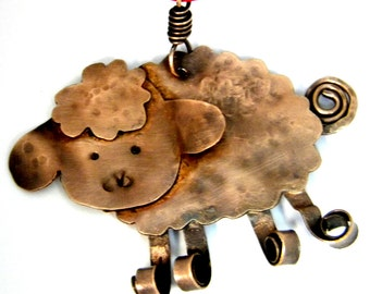 Copper Sheep Lamb Christmas Ornament