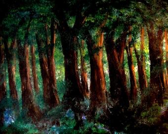 Licht von Evenfall, Druckbild des original Acrylbild