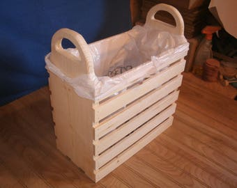 wooden sewing basket, sewing basket, storage basket, quilting basket
