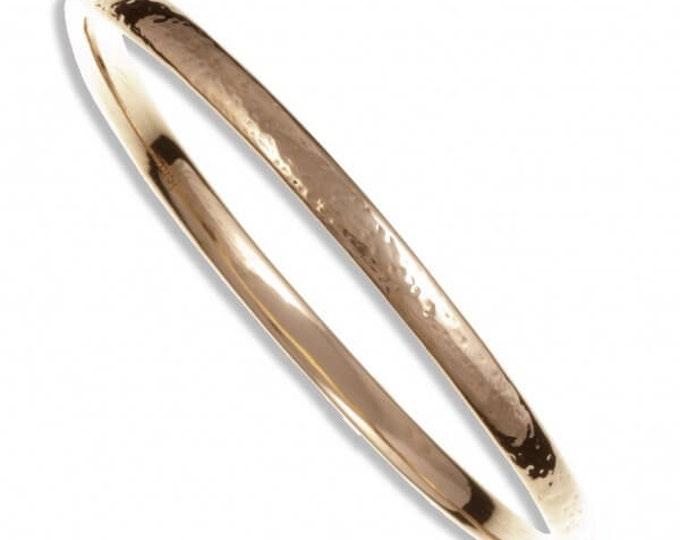 Beaten Bangle – bronze- A beautiful solid bronze narrow beaten bangle-Gift For -Anniversary - Mother Day Gift- Christmas