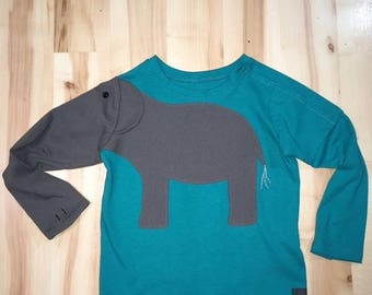 elephant shirt 3T child boy girl port access zoolittled