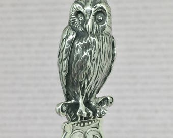 Letter opener with owl on top, perfect gift, dutch 925 silver