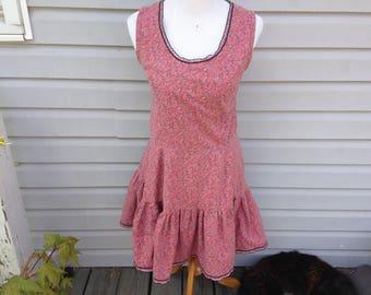 Pink Mauve 60s Peasant Prairie Dress