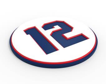 Custom Pro Sports Number Coaster