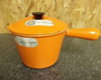Vintage Le Creuset, Le Creuset Saucepan, Le Creuset, Orange Le Creuset, Windsor Pot, Fondue Pot, Le Creuset Pan, 16cm (Ref 75F)