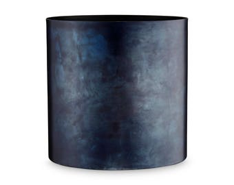 Blue Metal Flower Pot by H. Skjalm P. - 10 cm, 14 cm, 18 cm