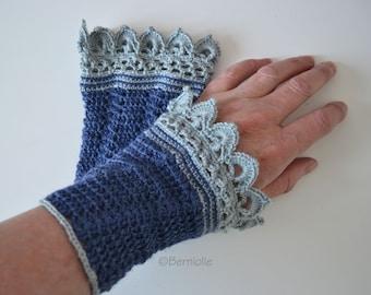 Lace crochet wristlets, alpaca/ silk, R646