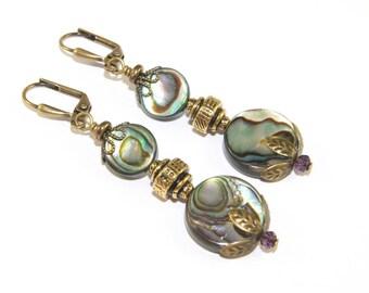 New Zealand Paua Shell Schmuck, Ohrringe und Halskette - Set zu kaufen oder separat