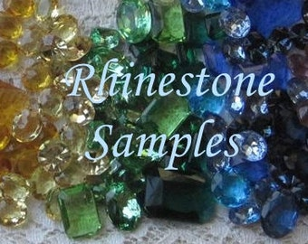 Rhinestone Samples, Anna Wintour Necklace Color Samples