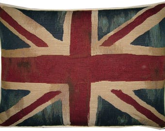 Vintage Union Jack British Flag Tapestry Cushion Pillow Cover